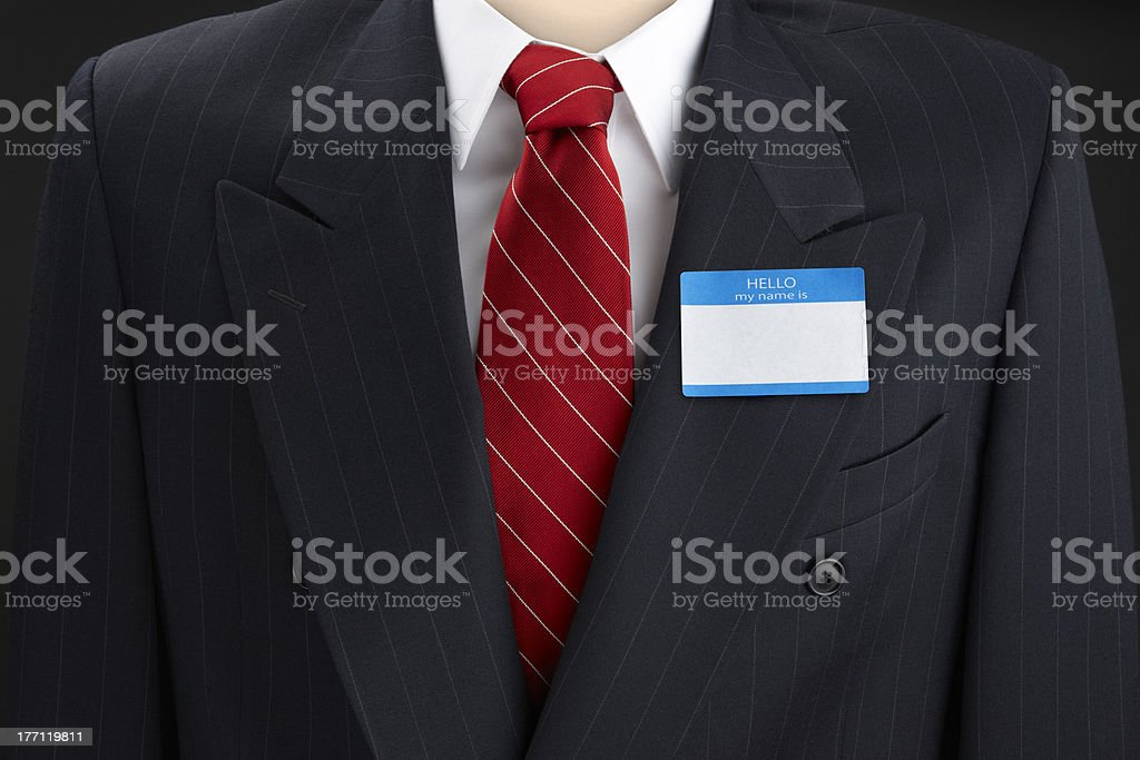 Hello, my name is... royalty-free stock photo