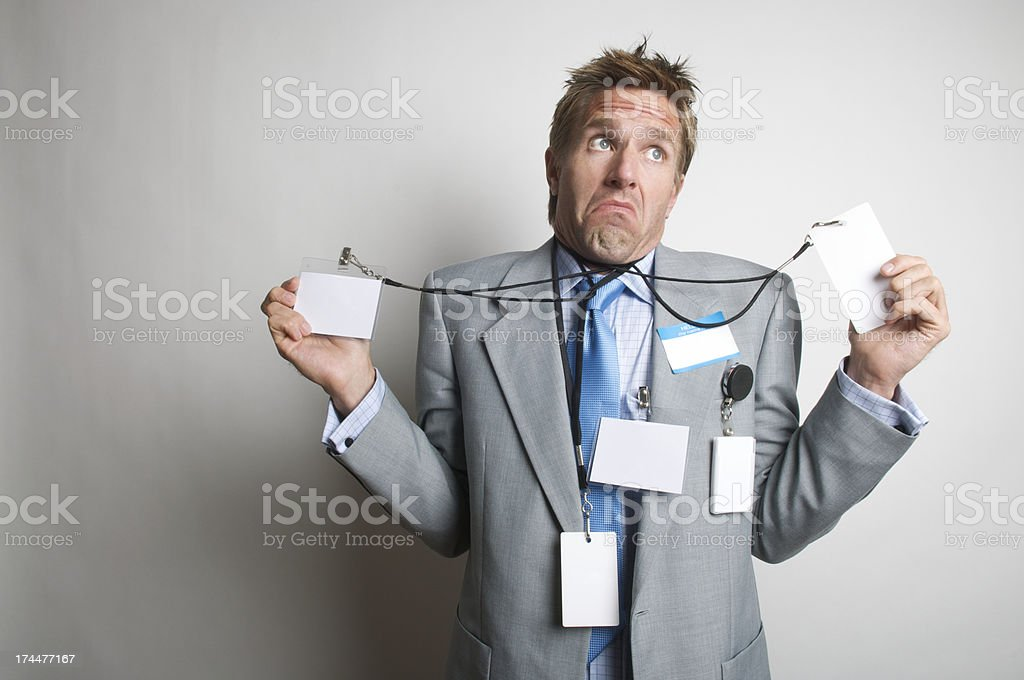 Hello My Name Is Who the Heck Knows stock photo