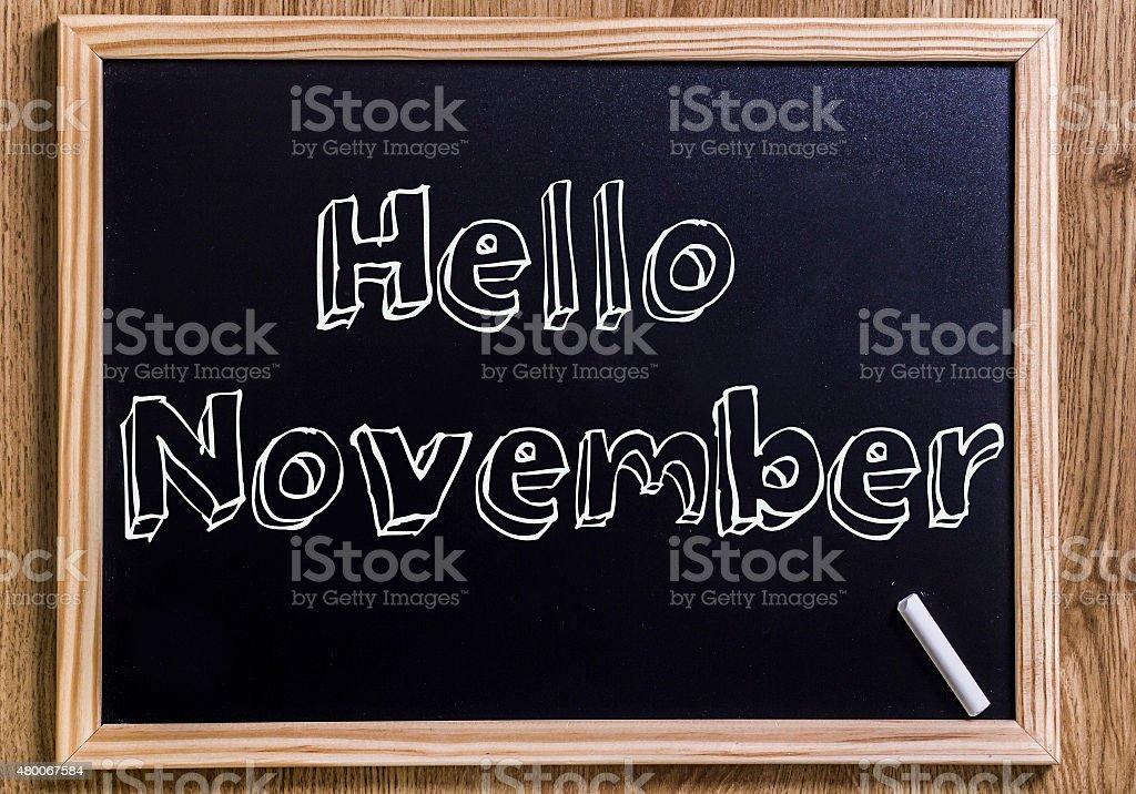 Hello November stock photo