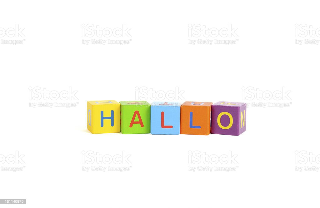 hallo royalty-free stock photo