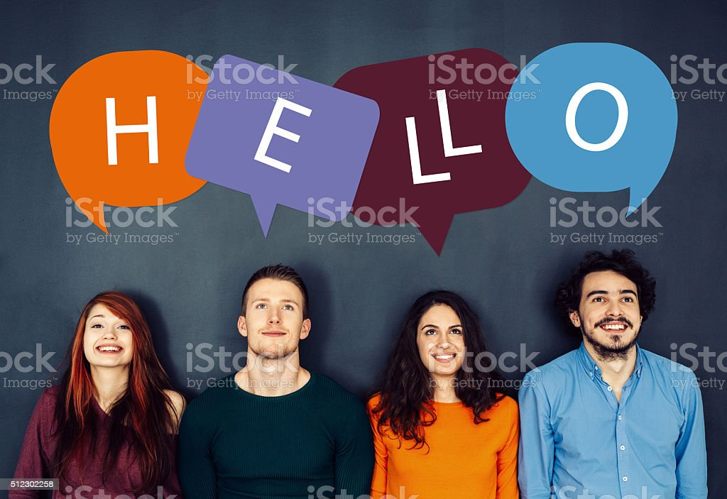 Hello stock photo