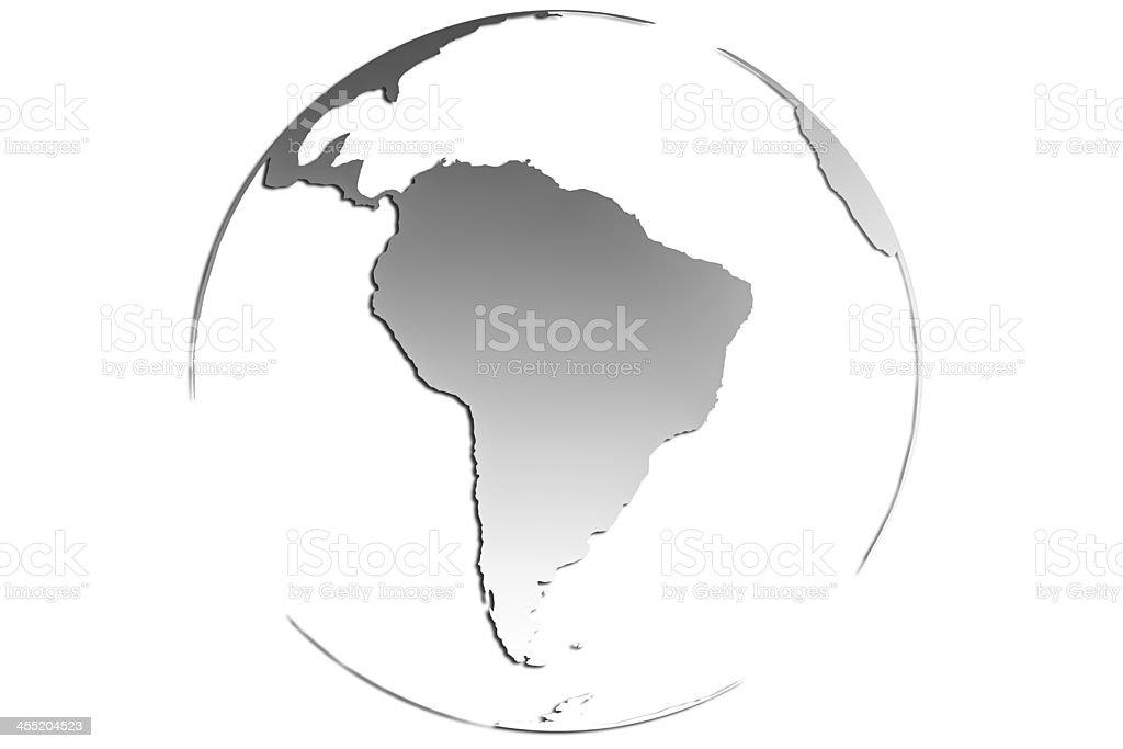 Hello South America stock photo