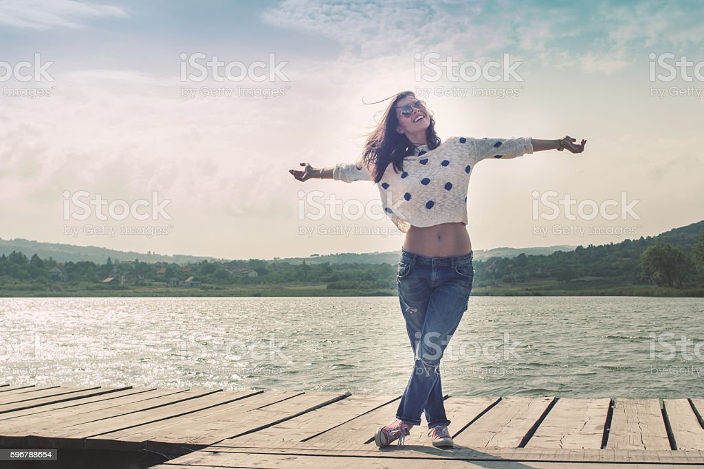 Hello spring, hello world! stock photo
