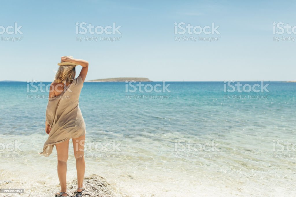 Hello summer stock photo