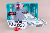 Hello word with standing robot