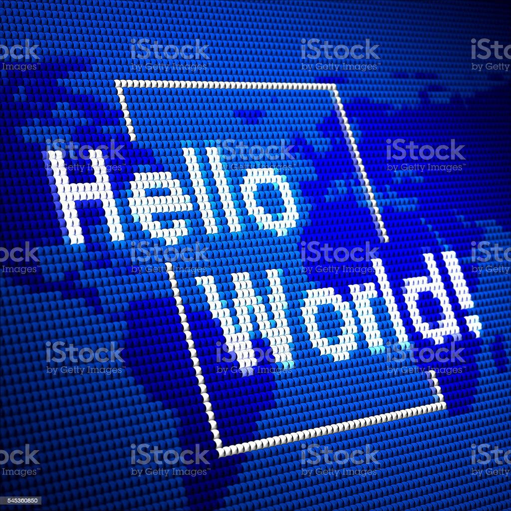 Hello World! stock photo