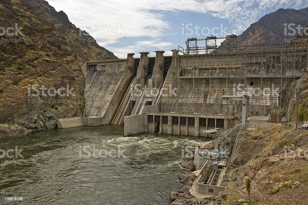Hell's Canyon Dam stock photo