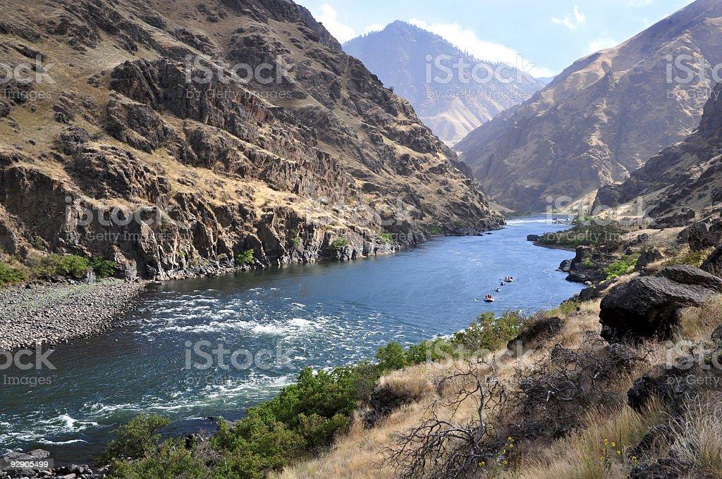 Hells Canyon Rafting royalty-free stock photo