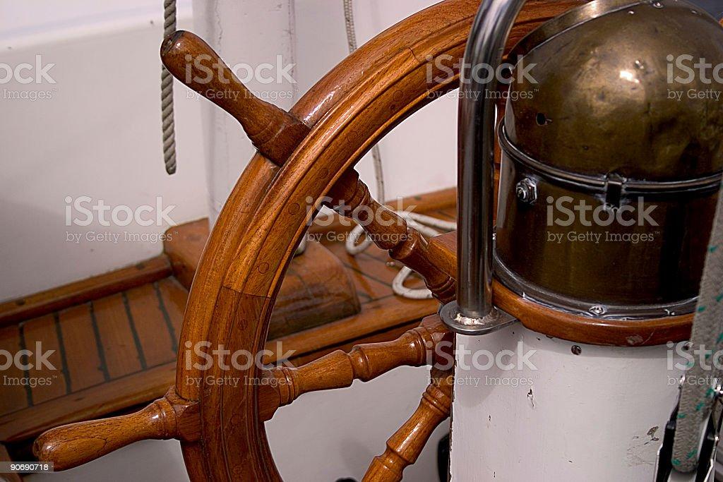 Helm, Sailboat stock photo