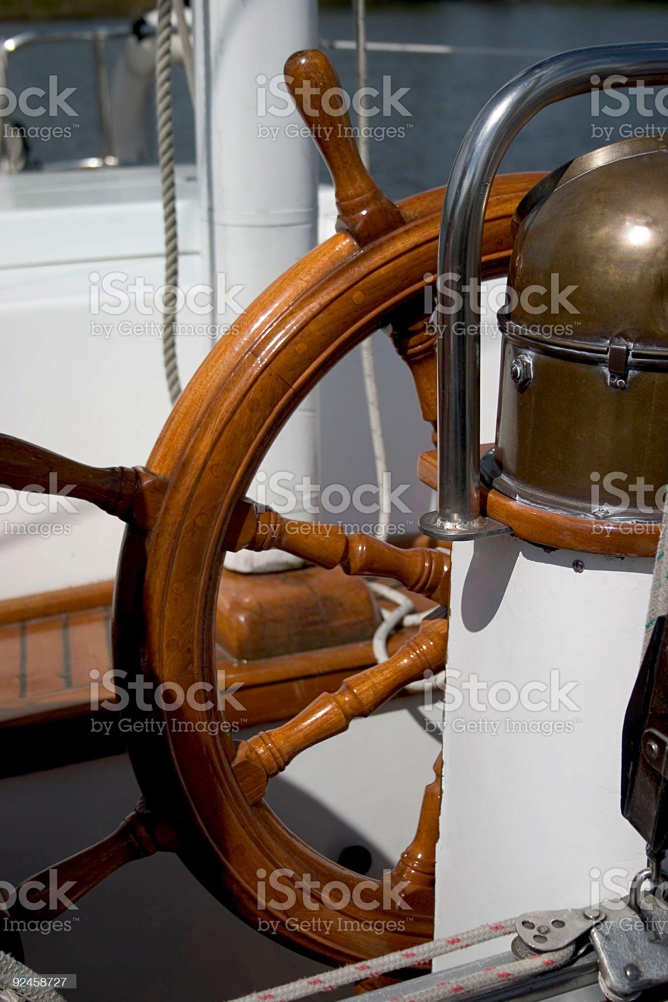Helm, Sailboat royalty-free stock photo