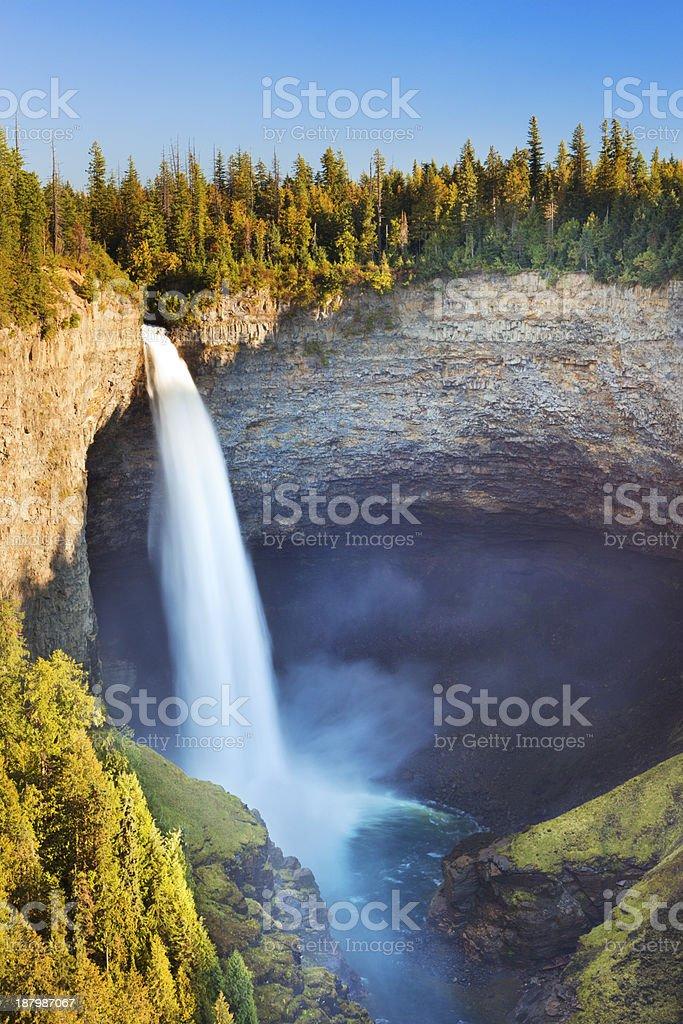 Helmcken Falls in Wells Gray Provincial Park, British Columbia, Canada stock photo