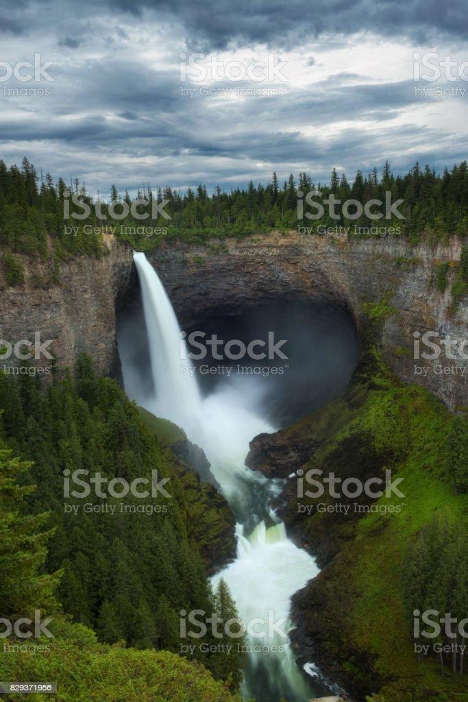 Helmcken Falls in Wells Gray Provincial Park in Canada stock photo