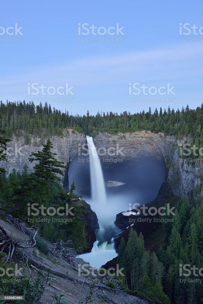 Helmcken Falls in Wells Gray Provincial Park stock photo