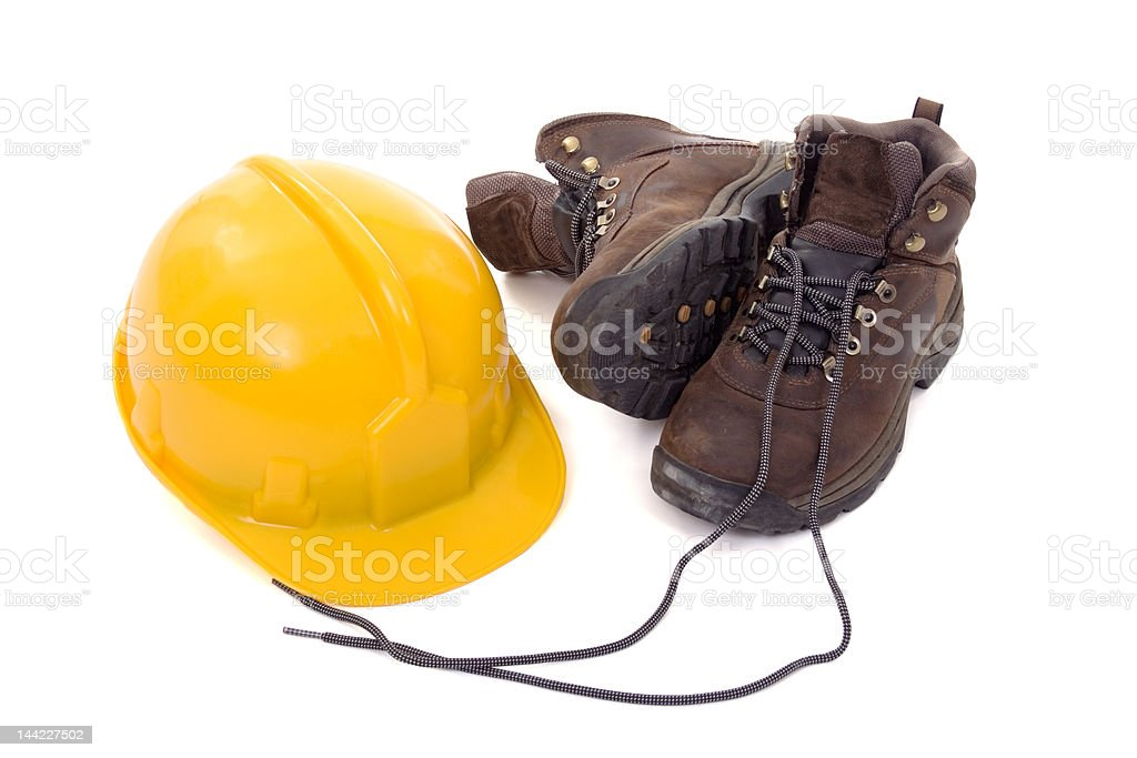 Helmet and boots royalty-free stock photo