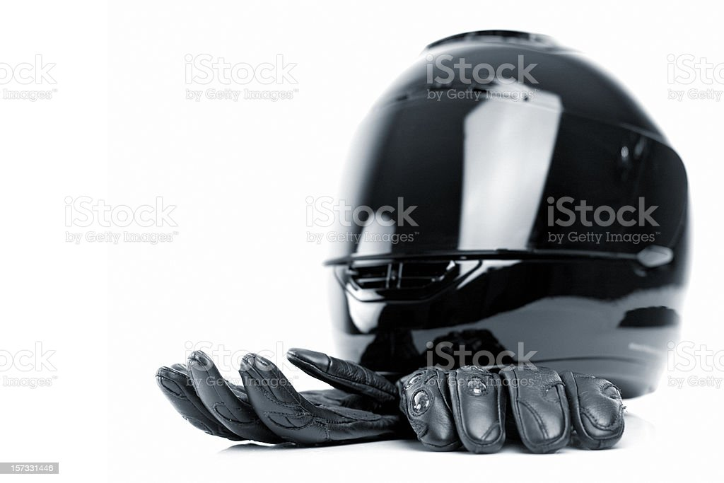 Helmet and gloves royalty-free stock photo