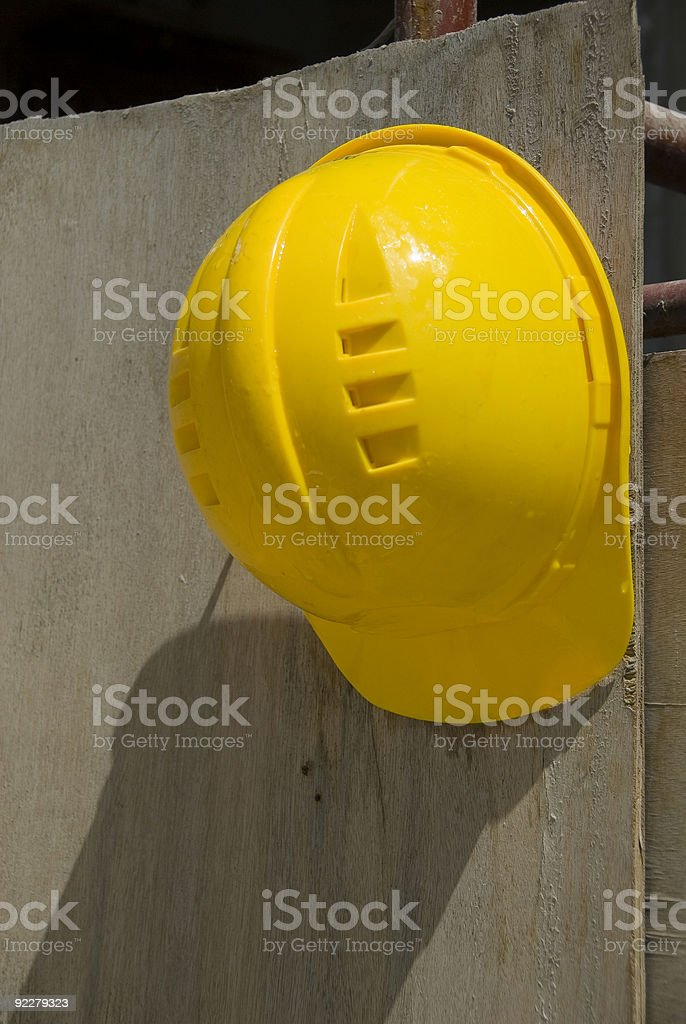 Helmet at the construction site, Istanbul, Turkey royalty-free stock photo