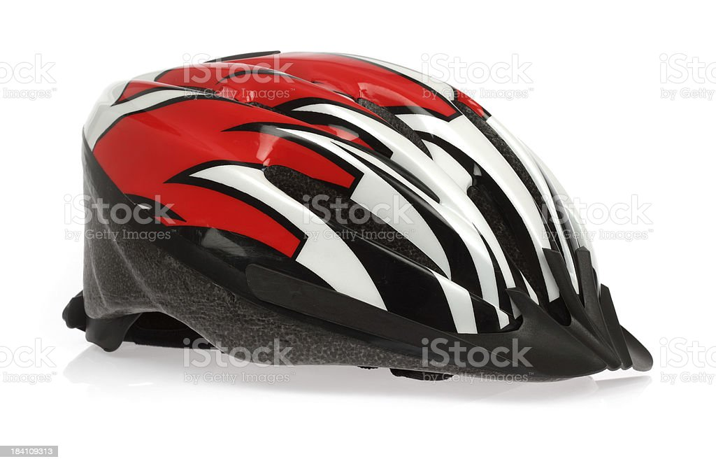 Helmet bicycle in mix color stock photo
