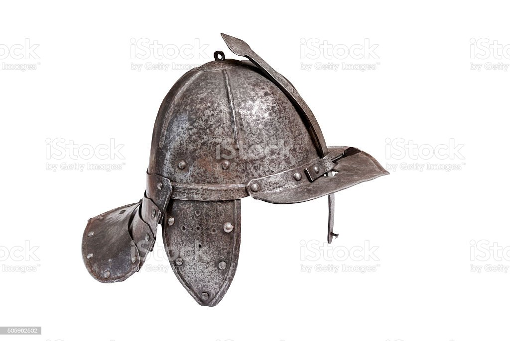 Helmet of the heavy (winged) hussars stock photo