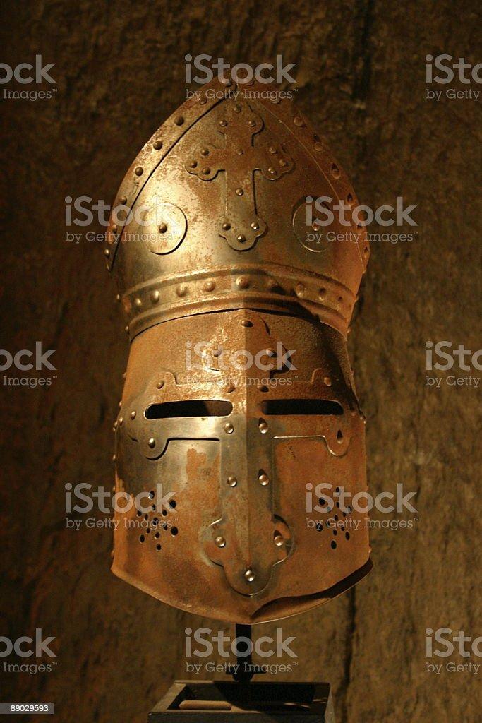 Helmet of the knight-rider of Ehrenburg royalty-free stock photo