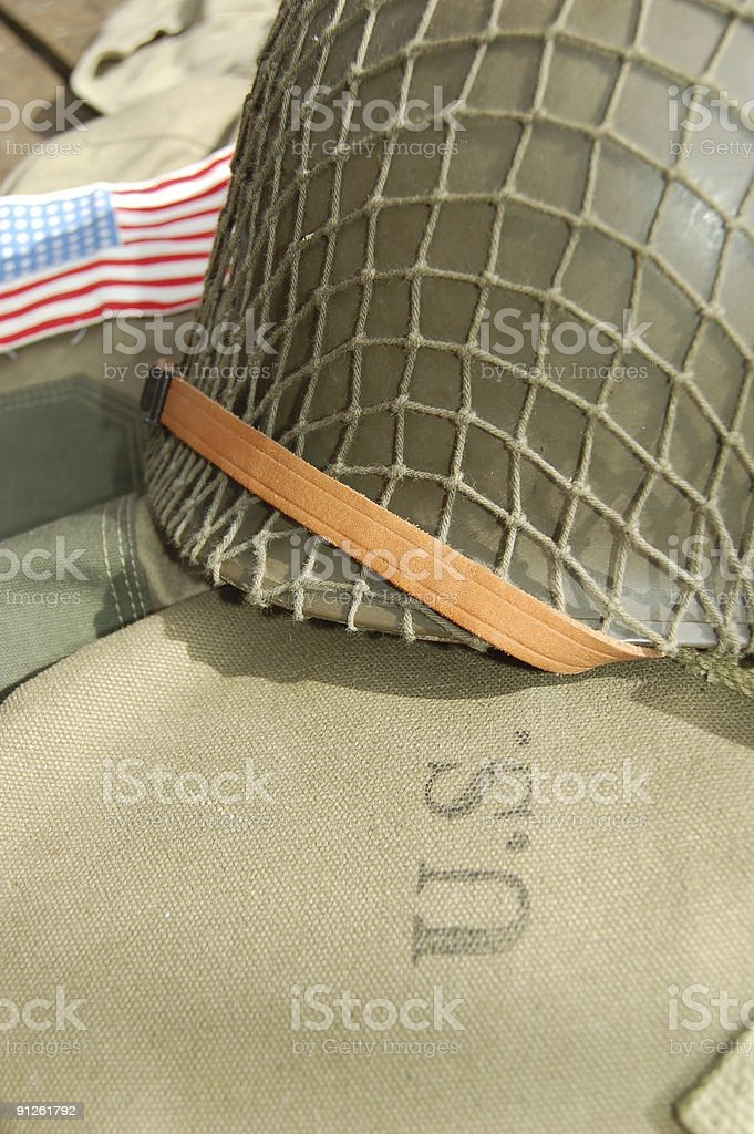 U.S. Helmet. stock photo