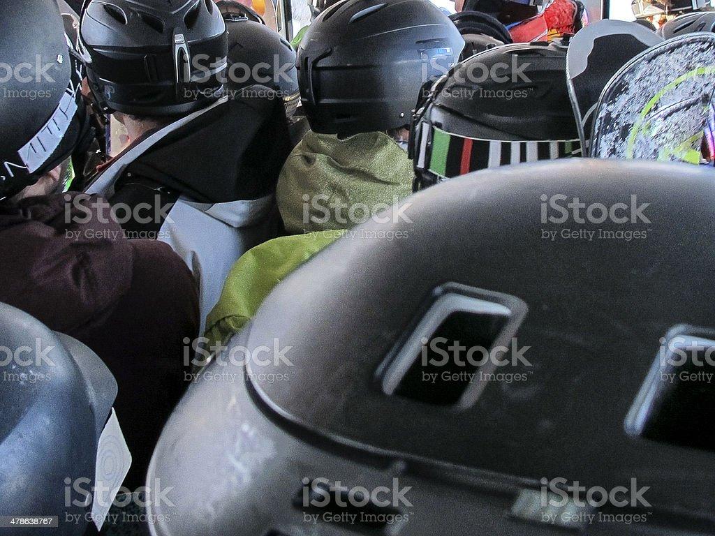 Helmet View. stock photo