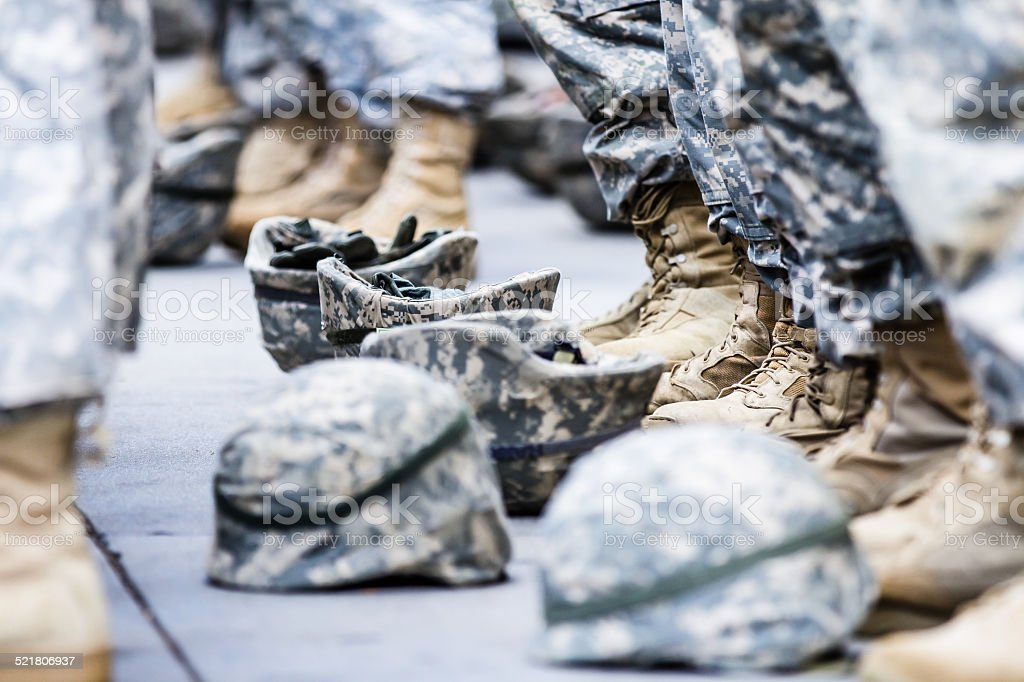 Helmets and Boots stock photo