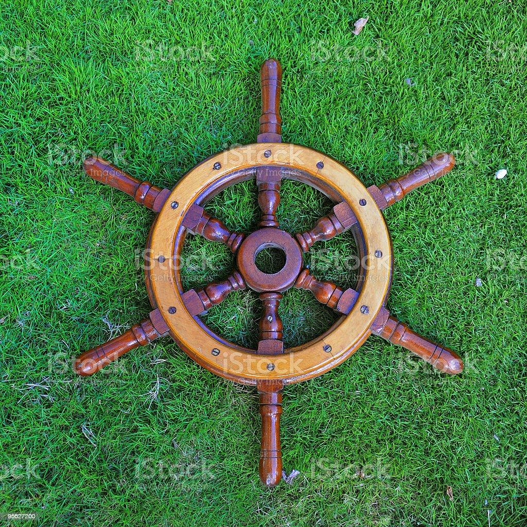 helmsman wheel stock photo