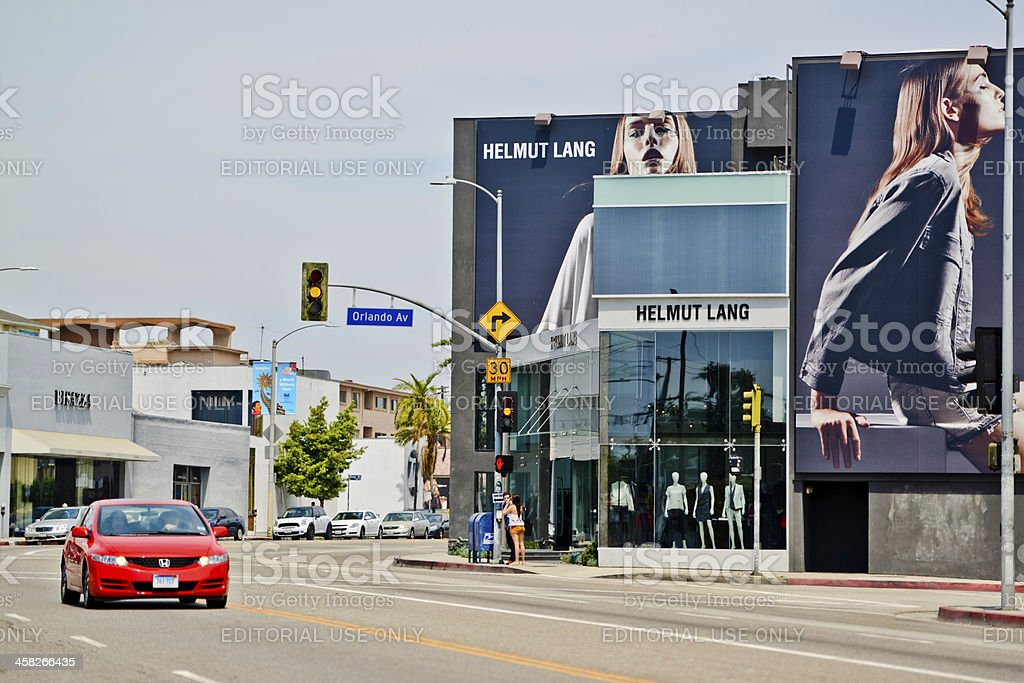 Helmut Lang Store on Melrose Avenue, Los Angeles royalty-free stock photo