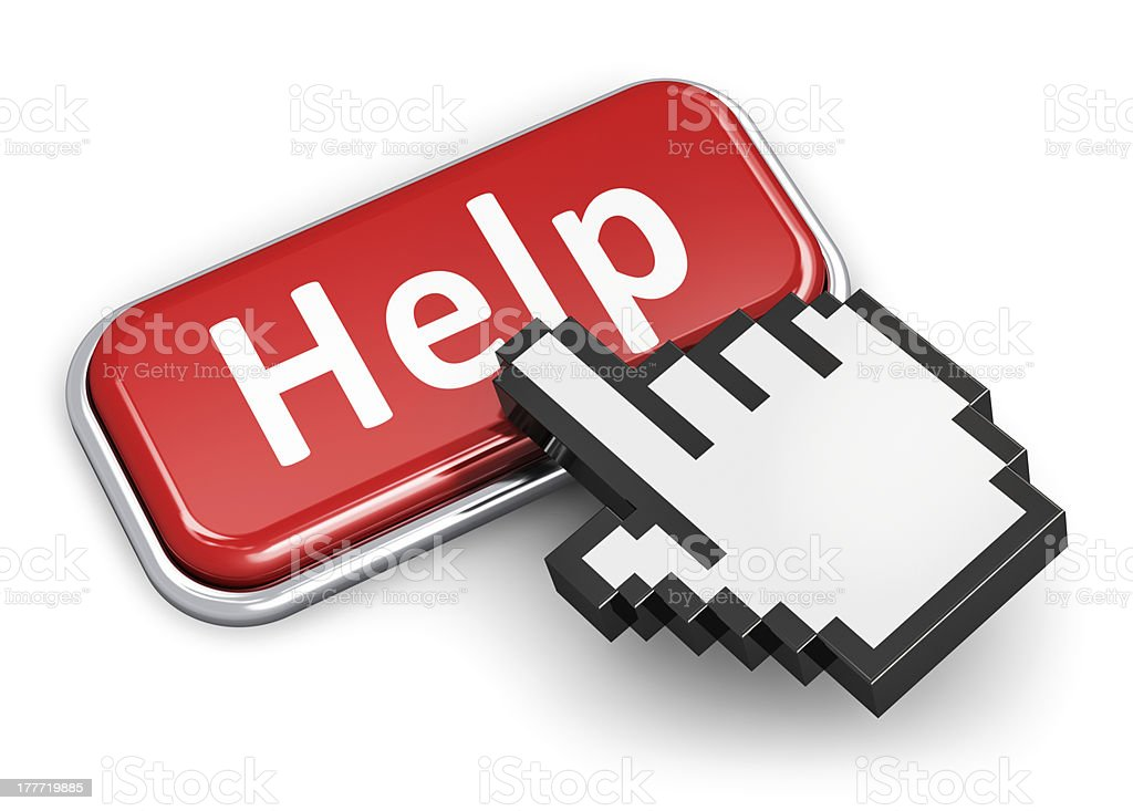Help and assistance concept stock photo