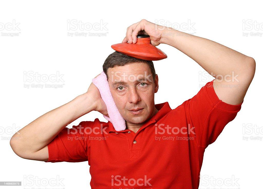 Help at a headache royalty-free stock photo