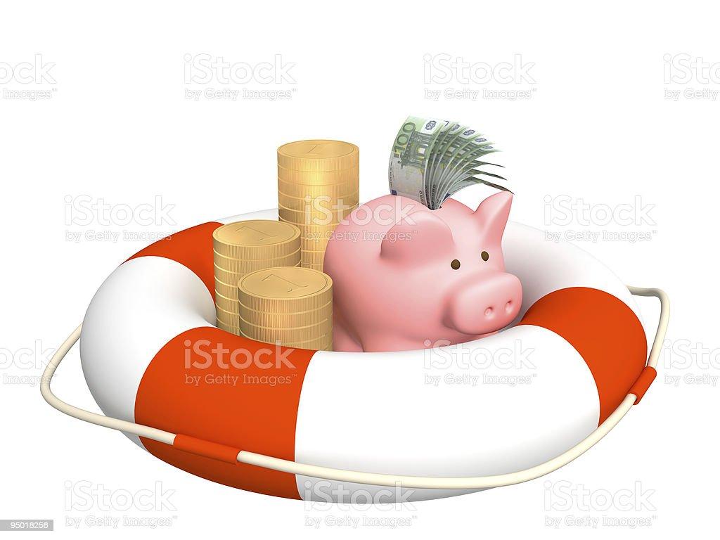Help at financial crisis royalty-free stock photo