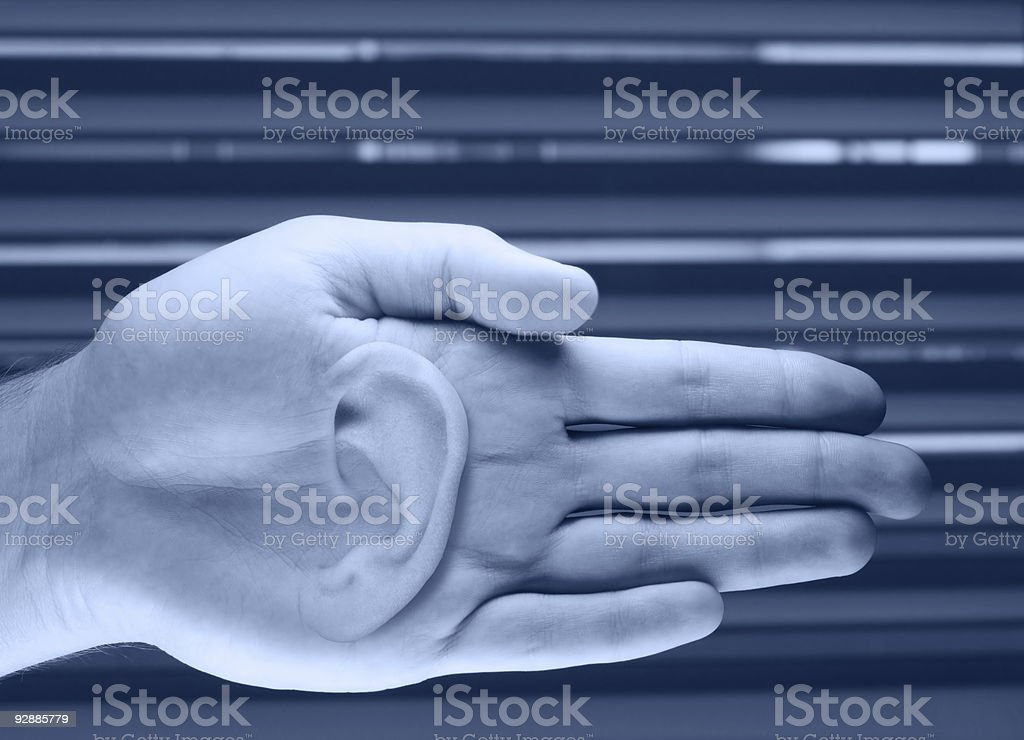 Help by listening royalty-free stock photo