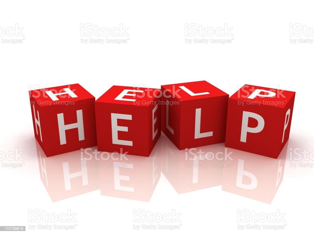 Help Crossword royalty-free stock photo