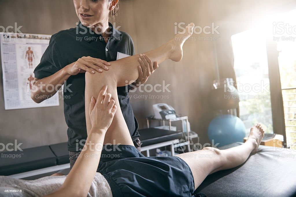 Help for hurting muscles stock photo