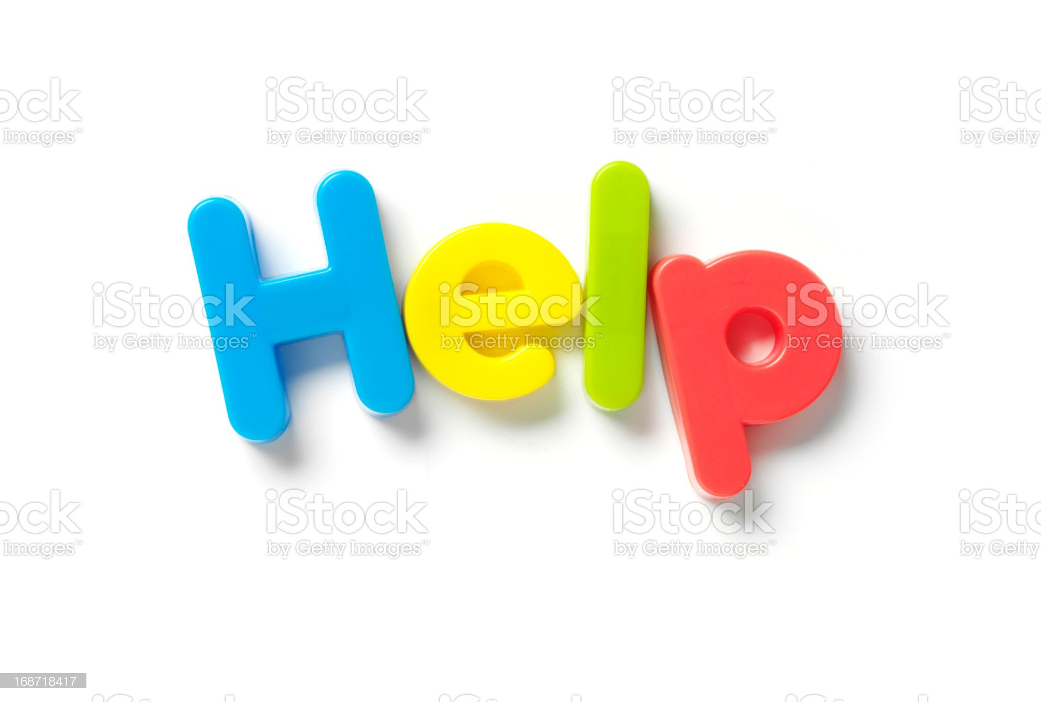 Help in Magnetic Letters royalty-free stock photo