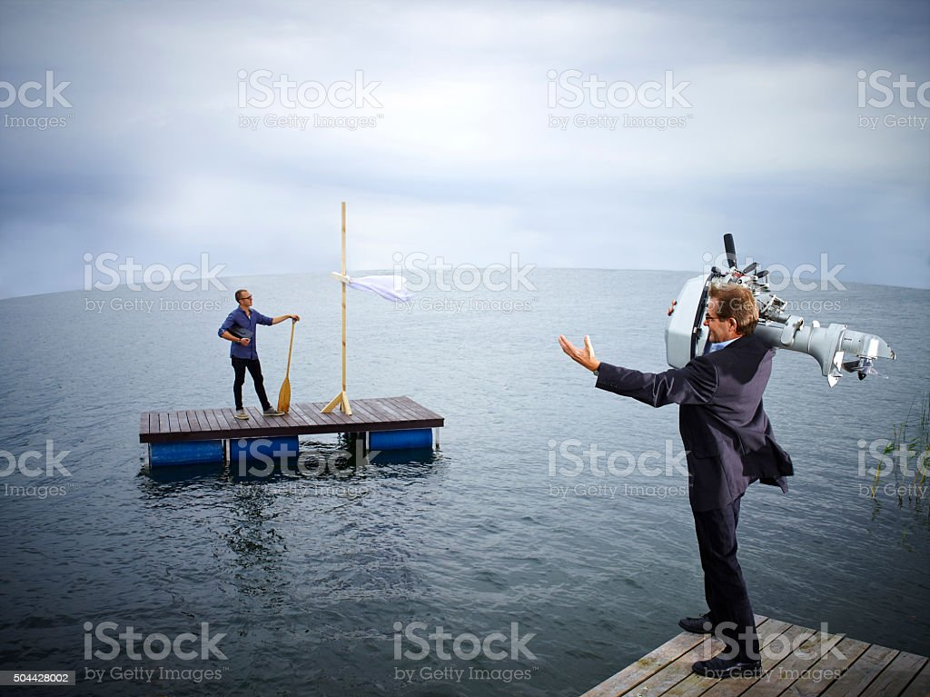 Help is near stock photo