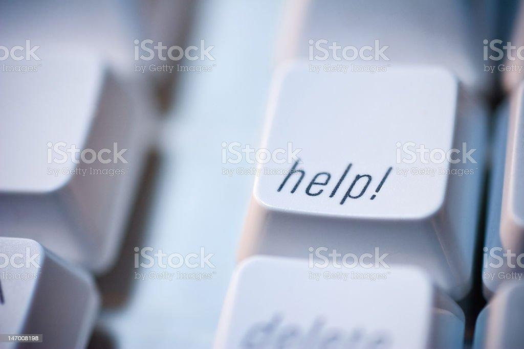 Help Key on Computer Keyboard royalty-free stock photo