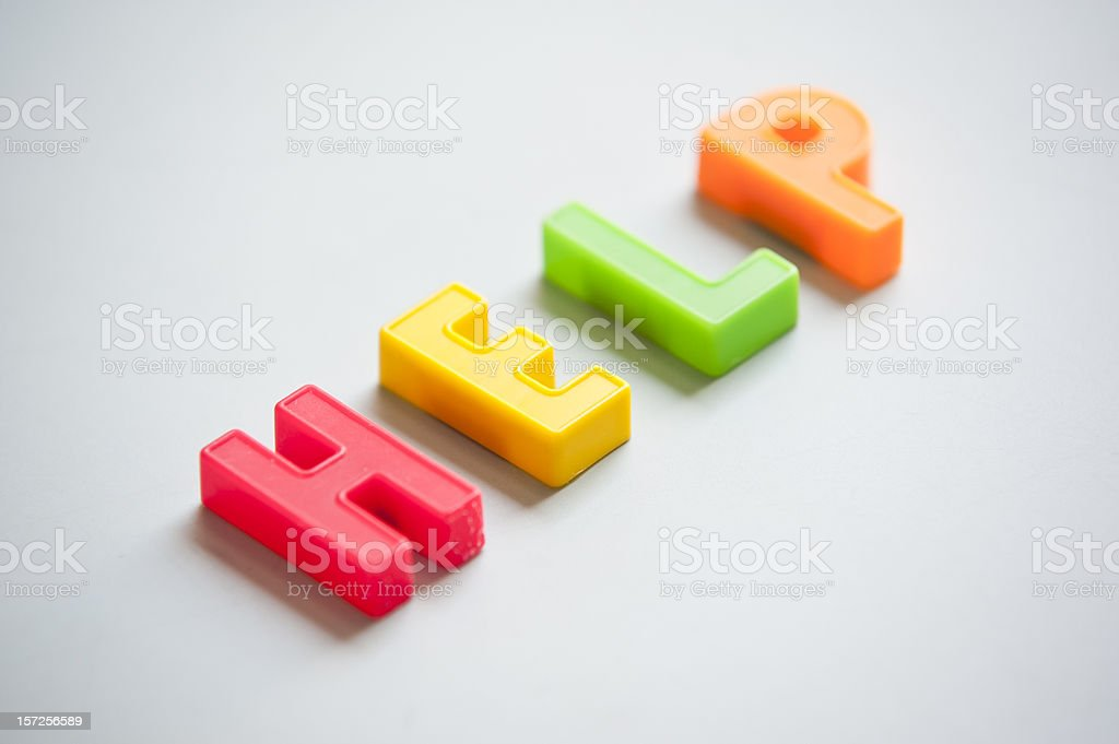 Help Letters On A Desk royalty-free stock photo