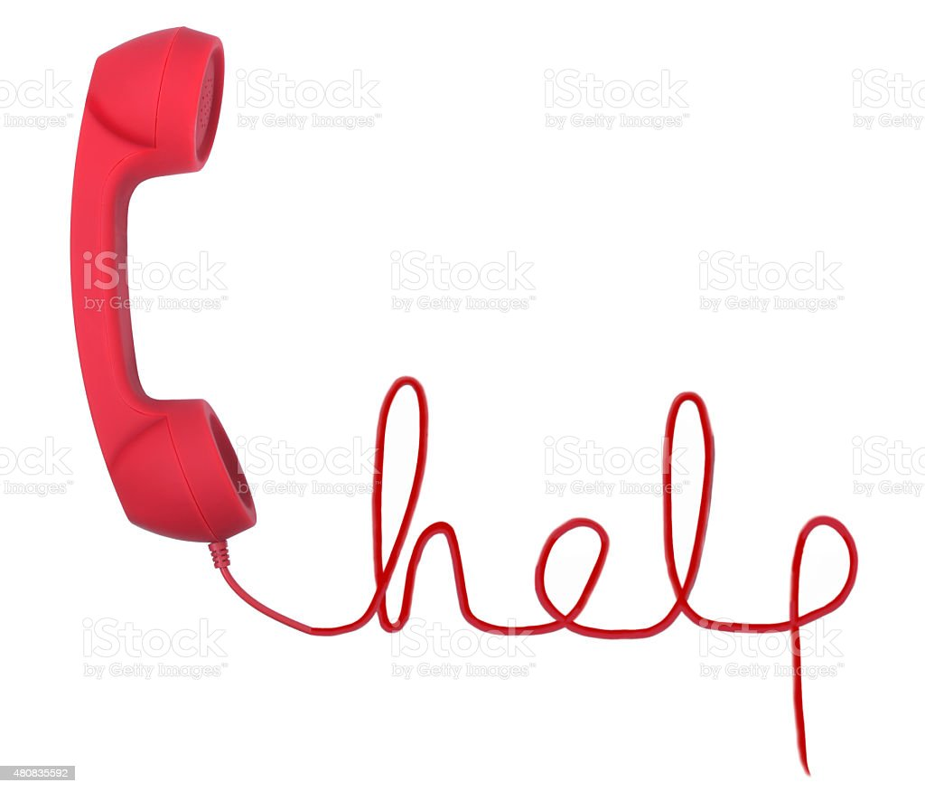 Help line stock photo