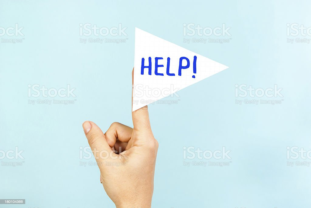 Help me concept royalty-free stock photo