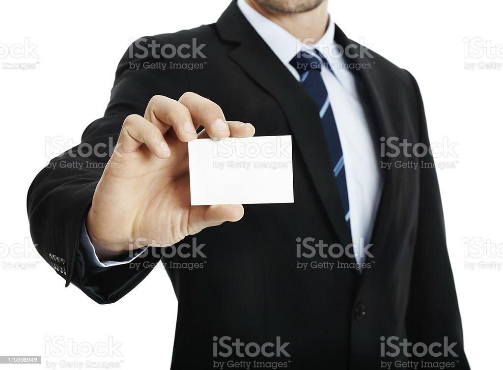 Help me design my businesscard royalty-free stock photo