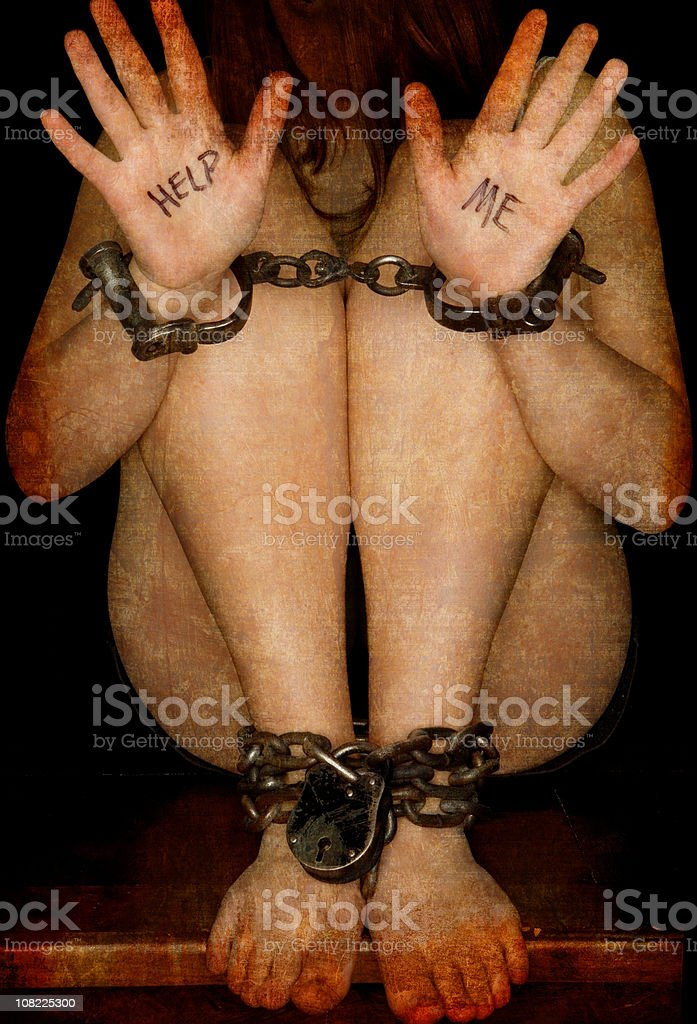 Help Me - Human Trafficking stock photo