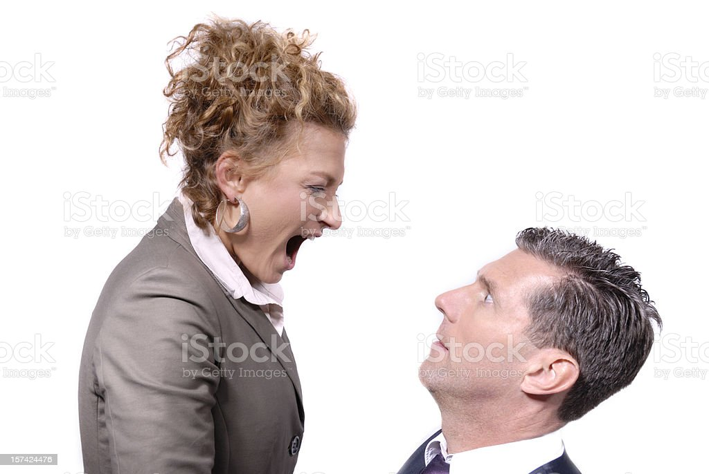Help - my boss is a woman royalty-free stock photo