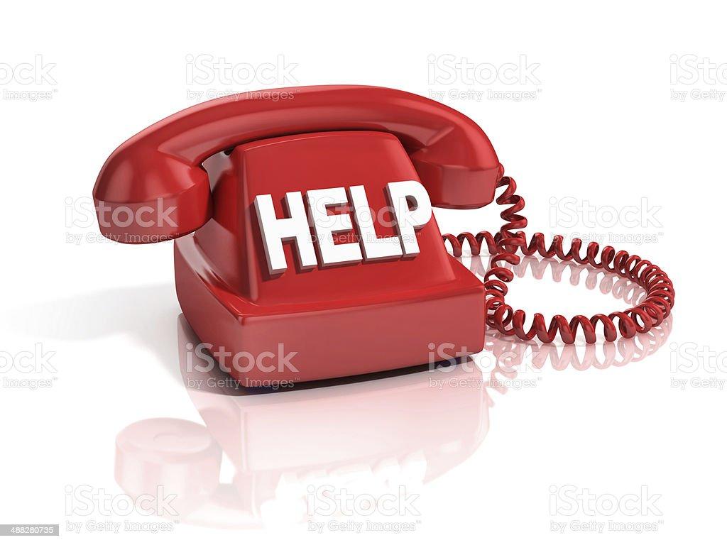 help phone 3d icon stock photo