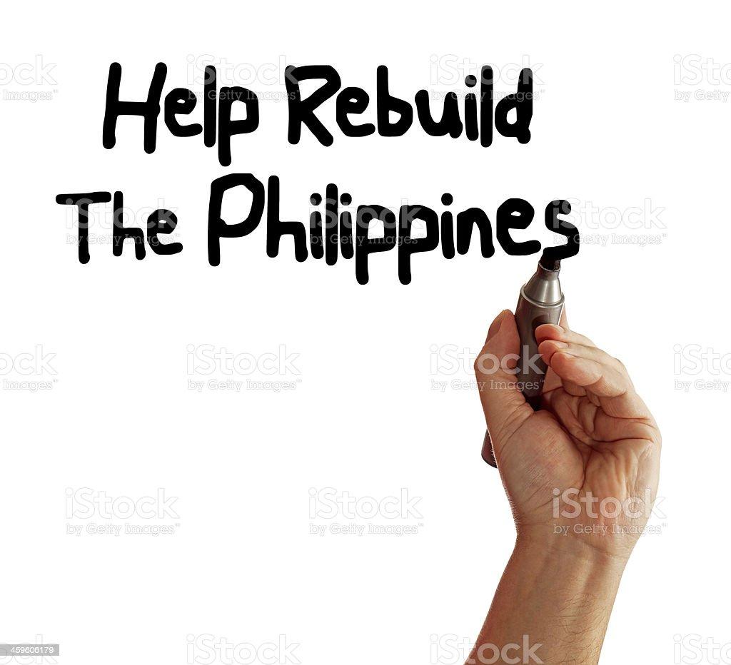 Help Rebuild The Philippines stock photo