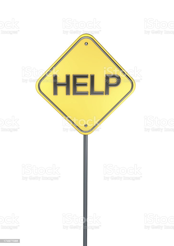Help Road Sign stock photo
