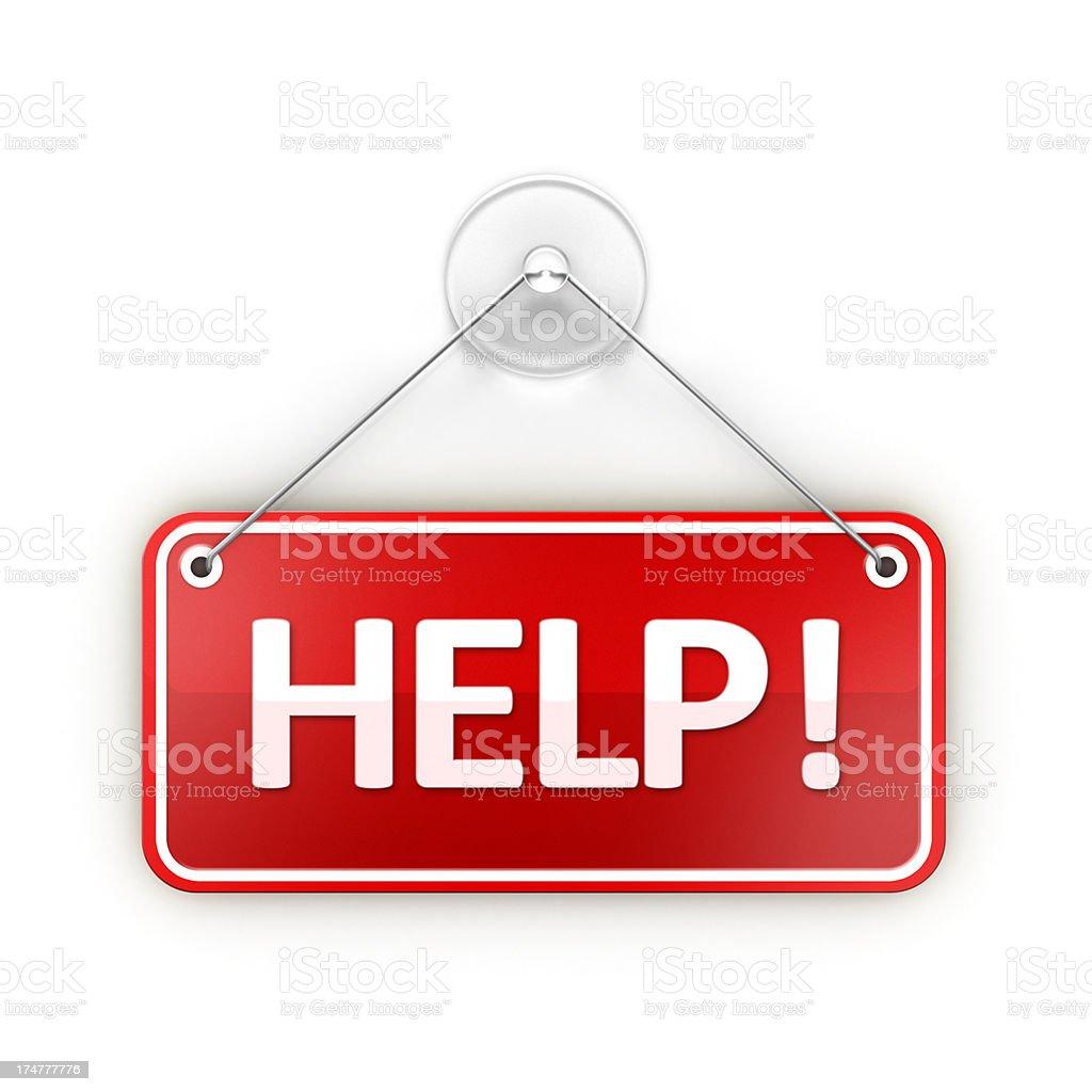 Help Sticky sign stock photo