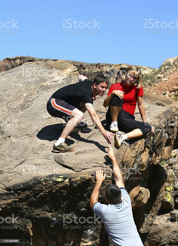 Help Up (Utah RedRockalypse) royalty-free stock photo