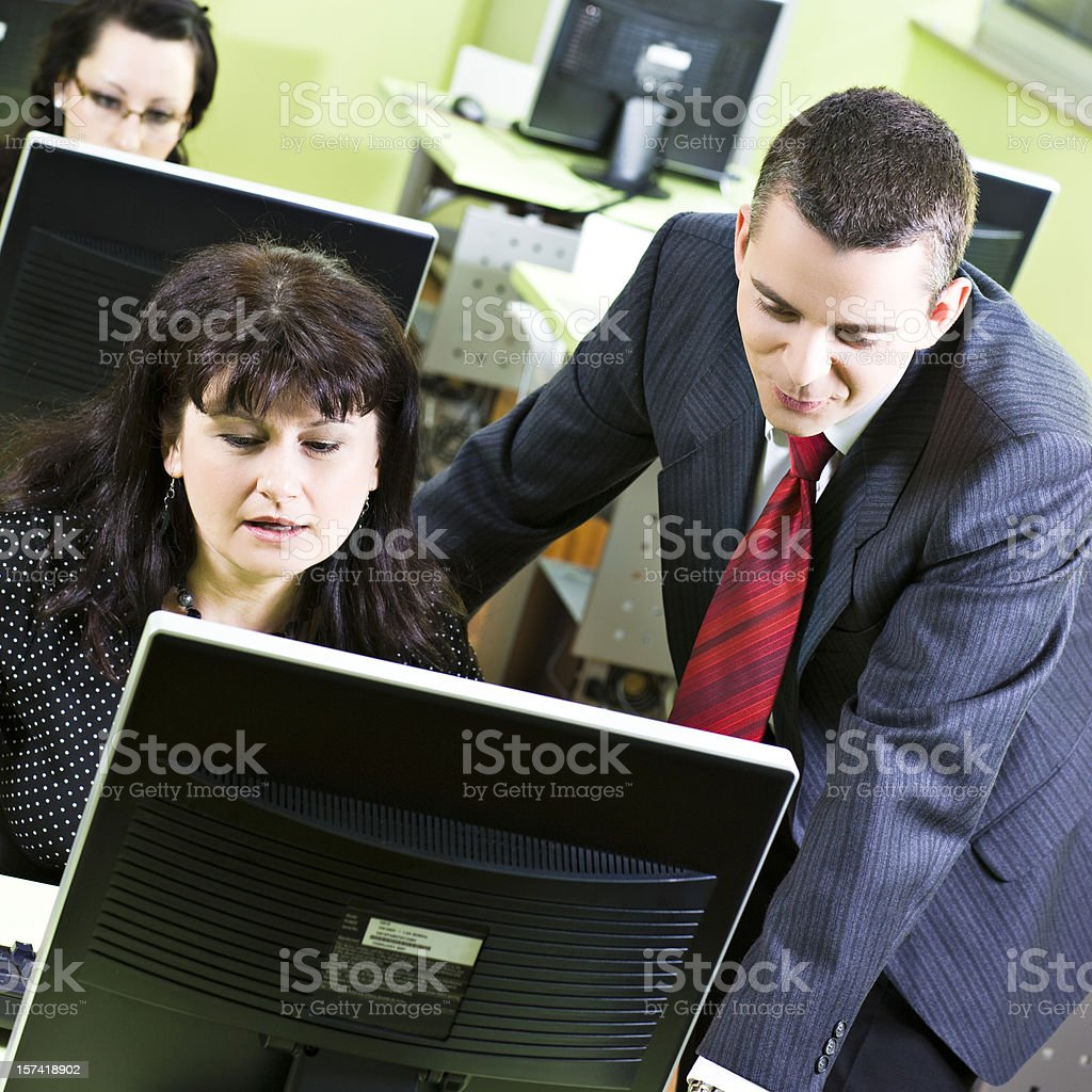 Help with computers royalty-free stock photo