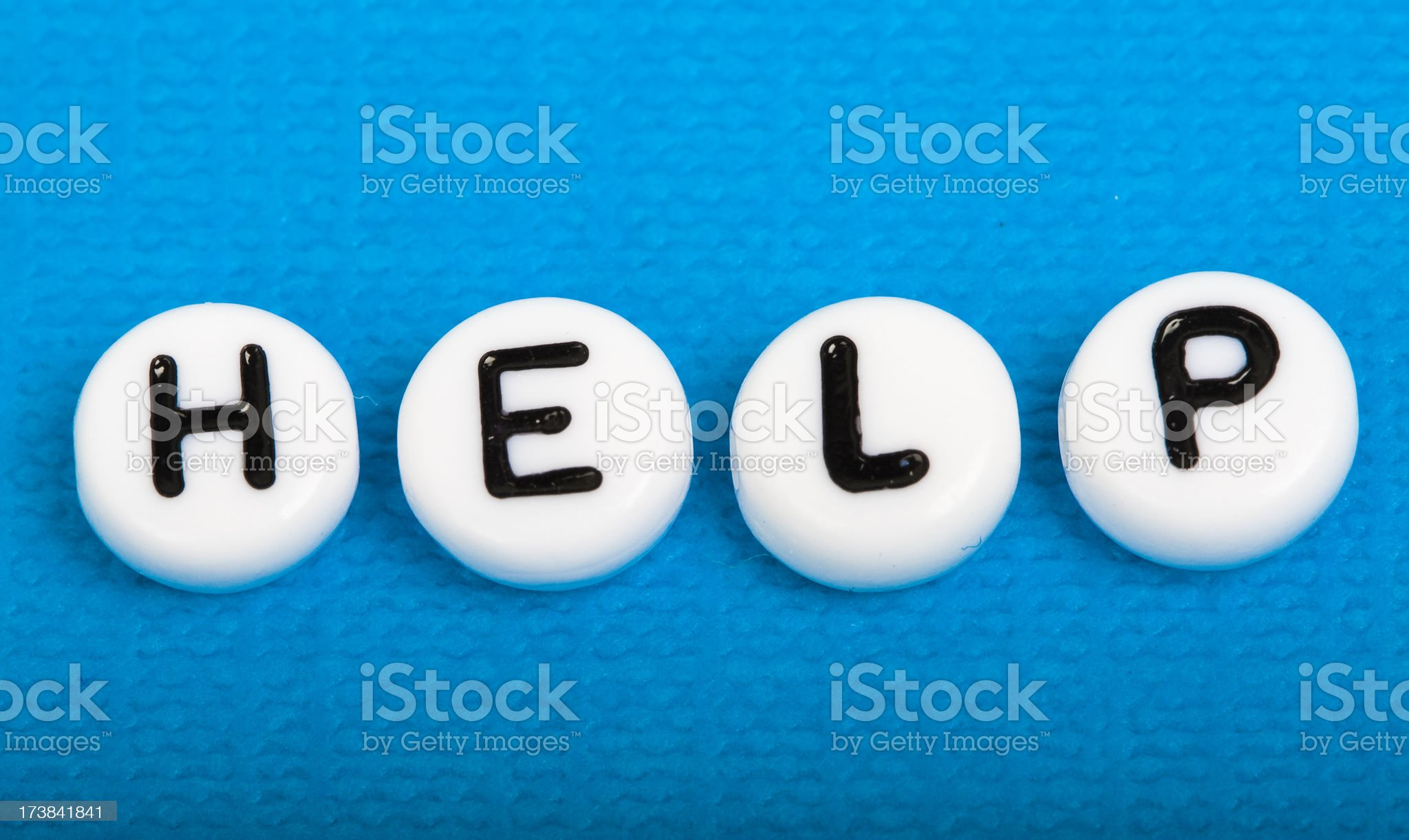 Help written on beads royalty-free stock photo